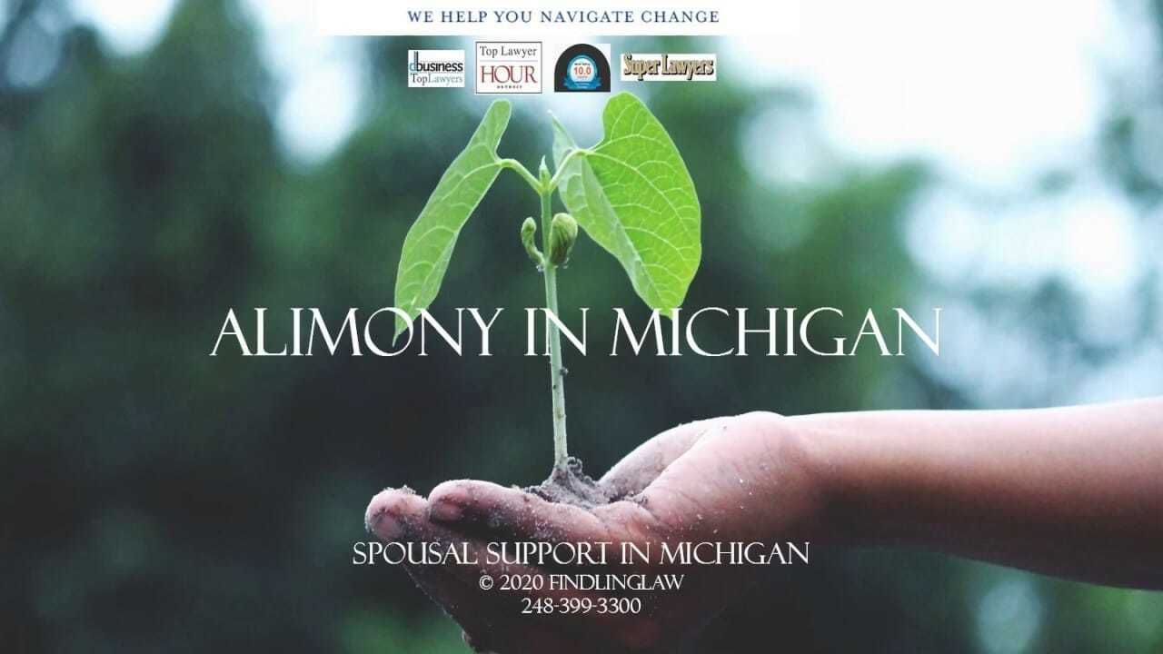 Michigan Alimony and Spousal Support video webinar