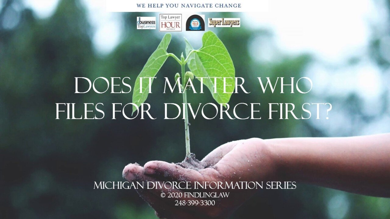 Is it important to be the first to file for divorce? It may be.